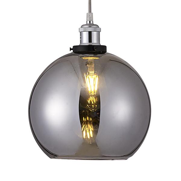 Smoked Glass Globe Lampshade