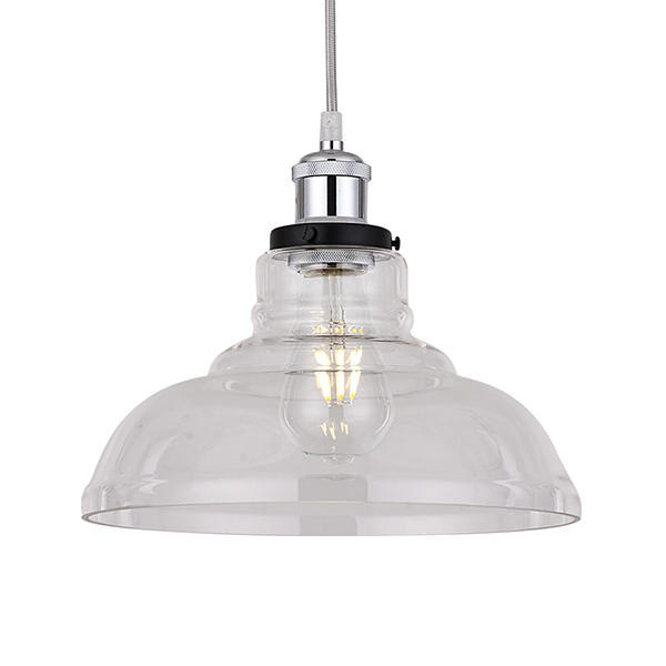 Clear Glass Round Lampshade