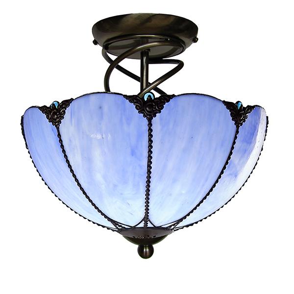 Blue Glass Pendant Light Shade 30cm