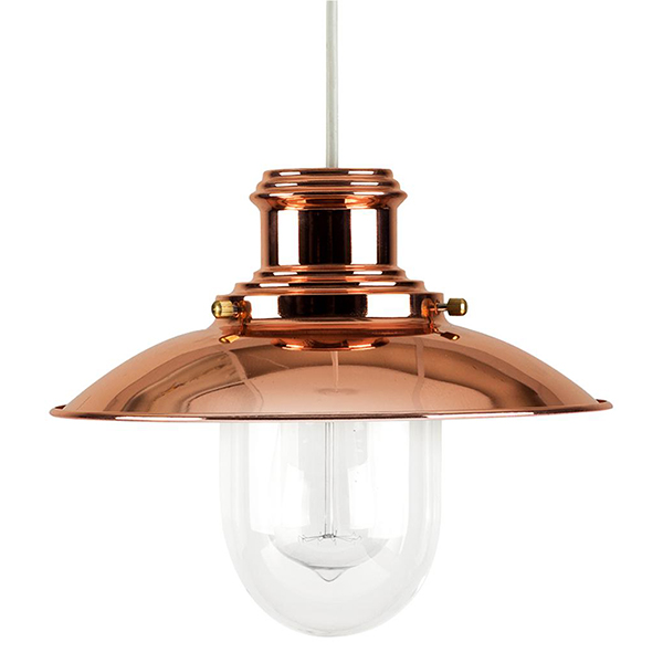 Copper Fisherman's Pendant Light