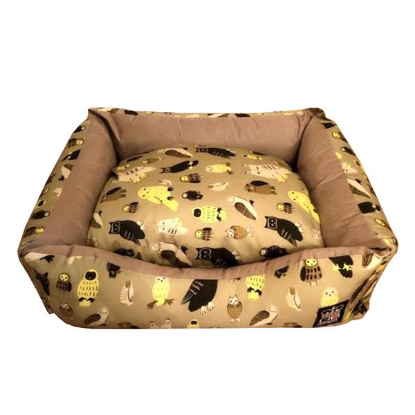 Owl Design Dog Pet Bed Settee