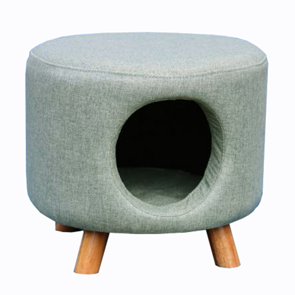 Pale Green Cat House Footstool