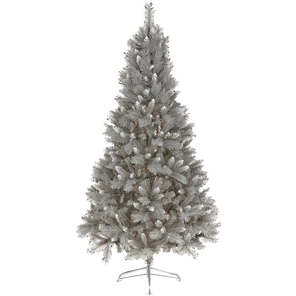 2.1m Silver Tip Christmas Tree