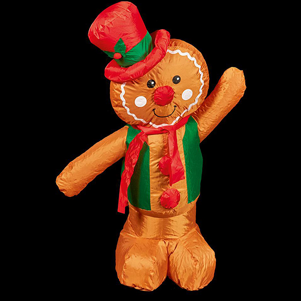 1.2m Christmas Inflatable Gingerbread Man