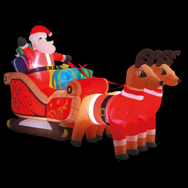 3m Christmas Inflatable Santa Sleigh