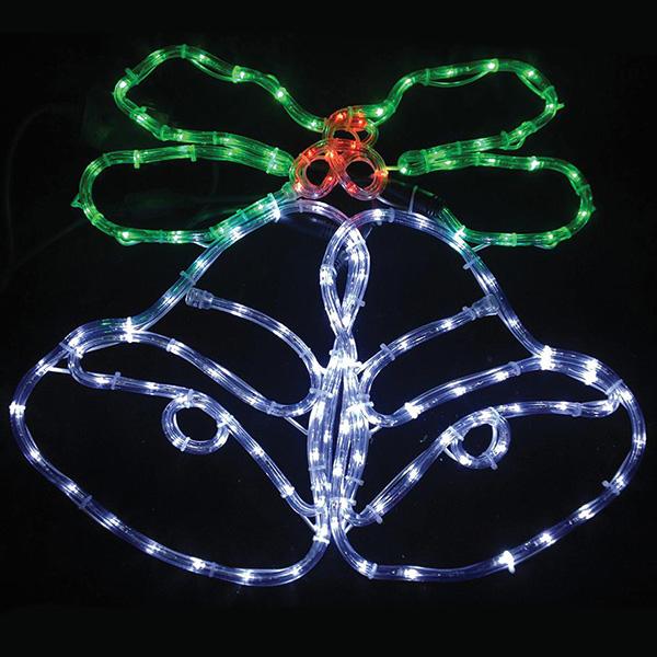 62cm Bells Holly Christmas Light