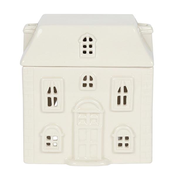 White Ceramic House Oil Burner