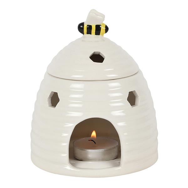 White Beehive Ceramic Oil Burner