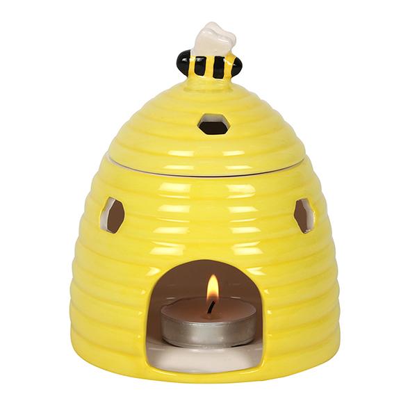 Yellow Beehive Ceramic Oil Burner