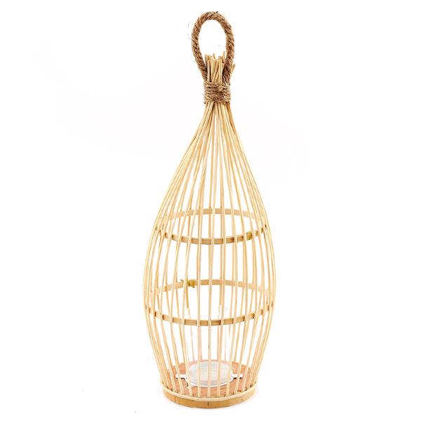 52cm Woven Bamboo Lantern