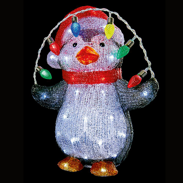 Acrylic LED Penguin Christmas Light