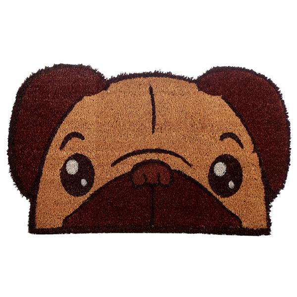 Pug Dog Coir Doormat