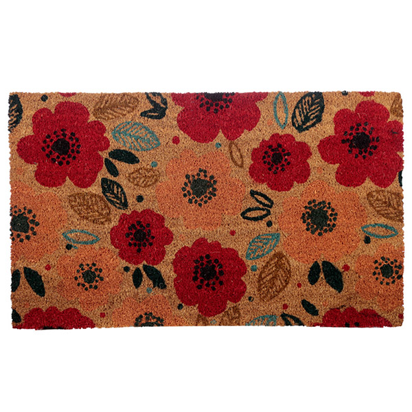 Poppy Field Rectangular Doormat