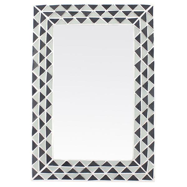 Triangle Pattern Monochrome Wall Mirror