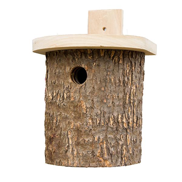 Natural Log Tit Nest Box