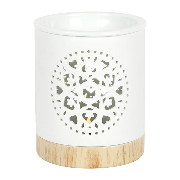 Mandala Matte Ceramic Oil Burner