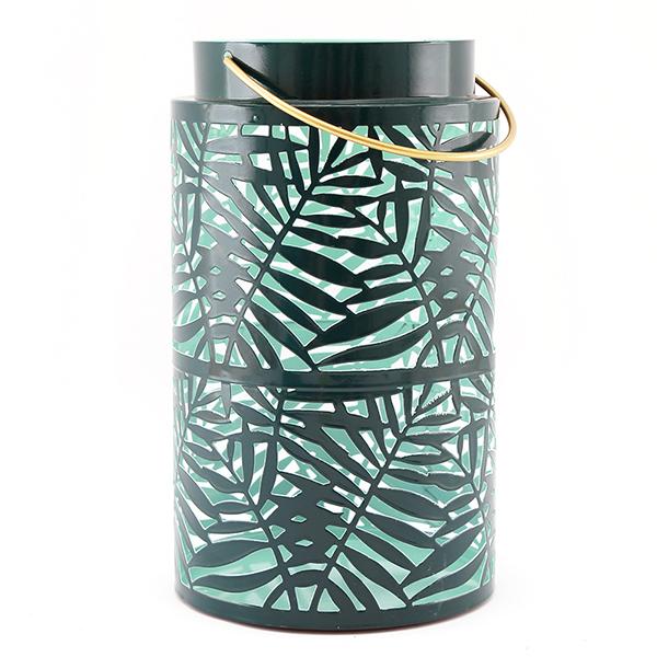 Large Green Olive Leaf Lantern
