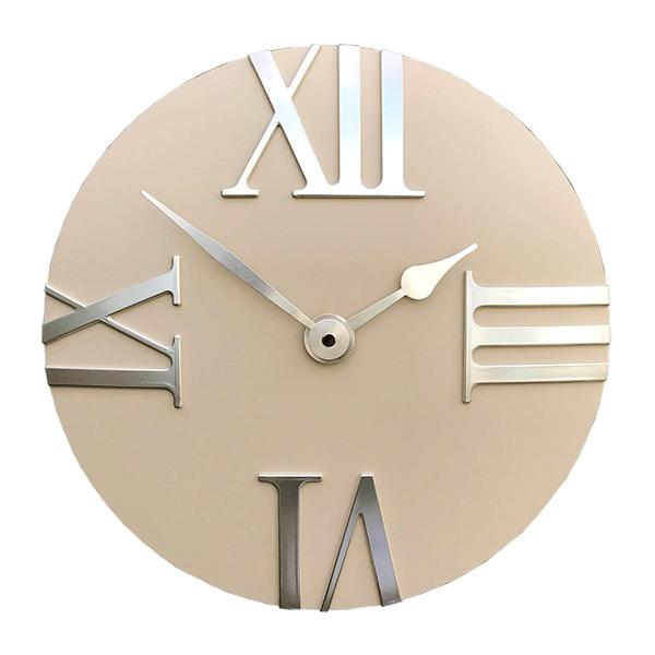 Beige Round Wall Clock