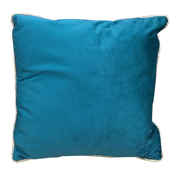 Sea Blue Velvet Square Cushion