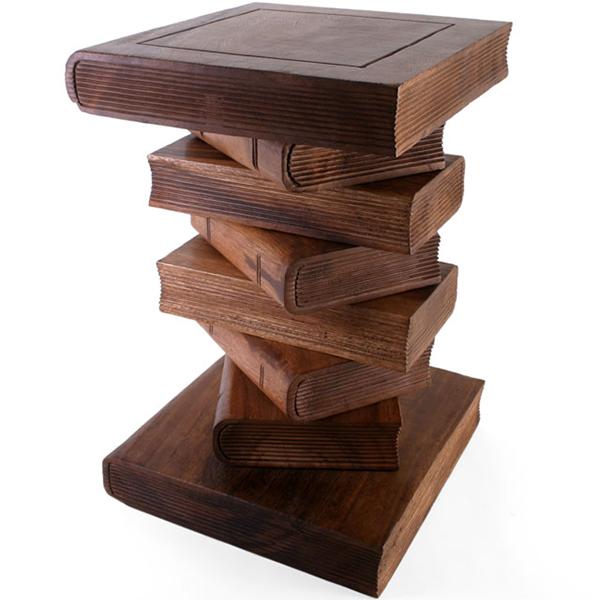 Acacia Wood Book Shaped Table